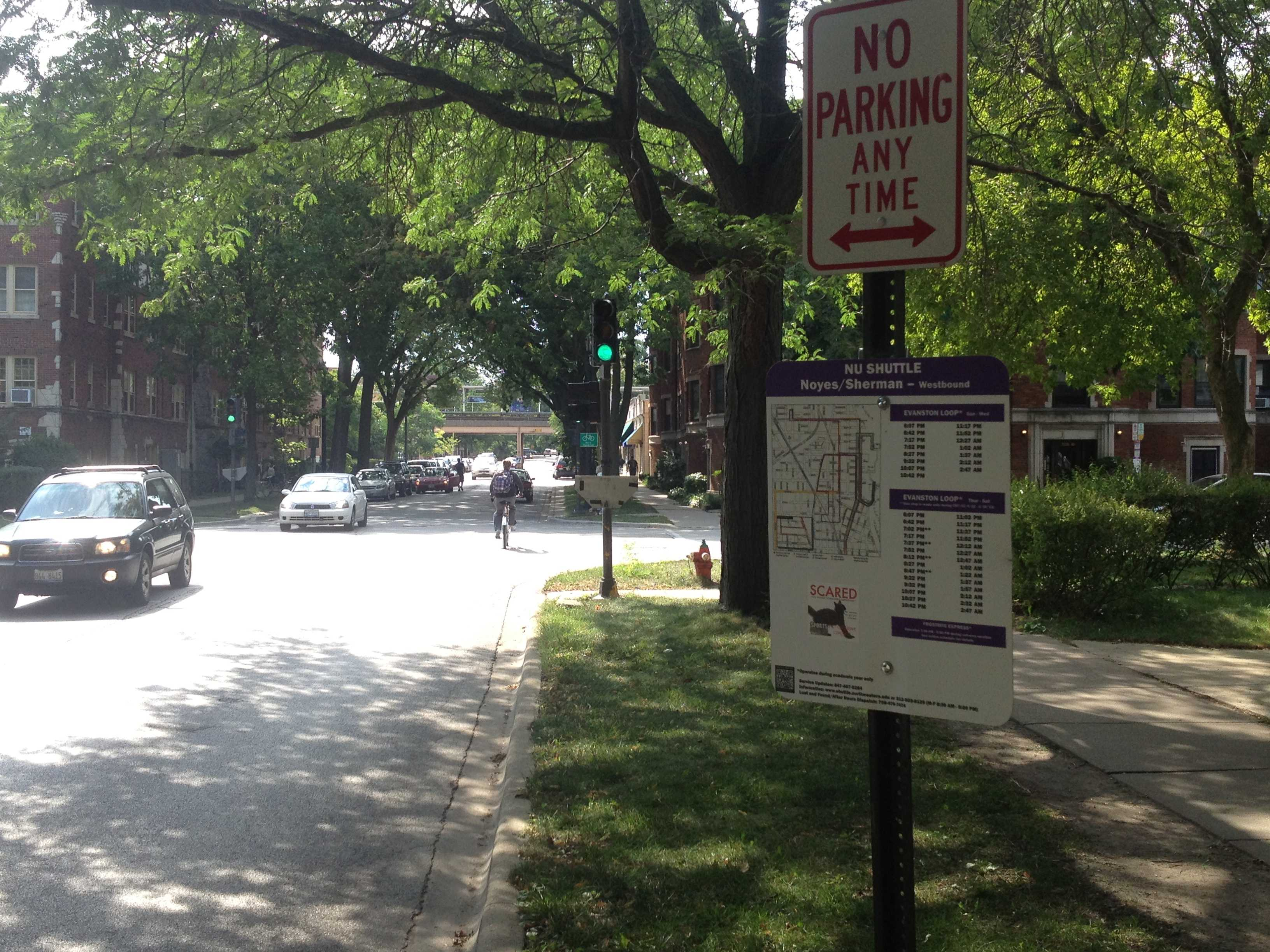 Ald. Judy Fiske (1st) said Monday night that the Evanston Loop shuttle stop near the intersection of Sherman Avenue and Noyes Street is causing headaches for nearby residents. A subcommittee has been formed to take up their concerns.