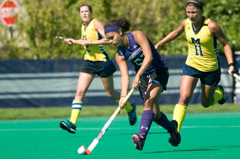 Freshman Isabel Flens scored the winning shot in overtime against Iowa on Friday and continued her attack Sunday, scoring half the points in Northwestern's 4-1 win over Michigan. Along with fellow freshman Dominique Masters, the midfielders combined for six of the Wildcats' eight points this weekend in Evanston.