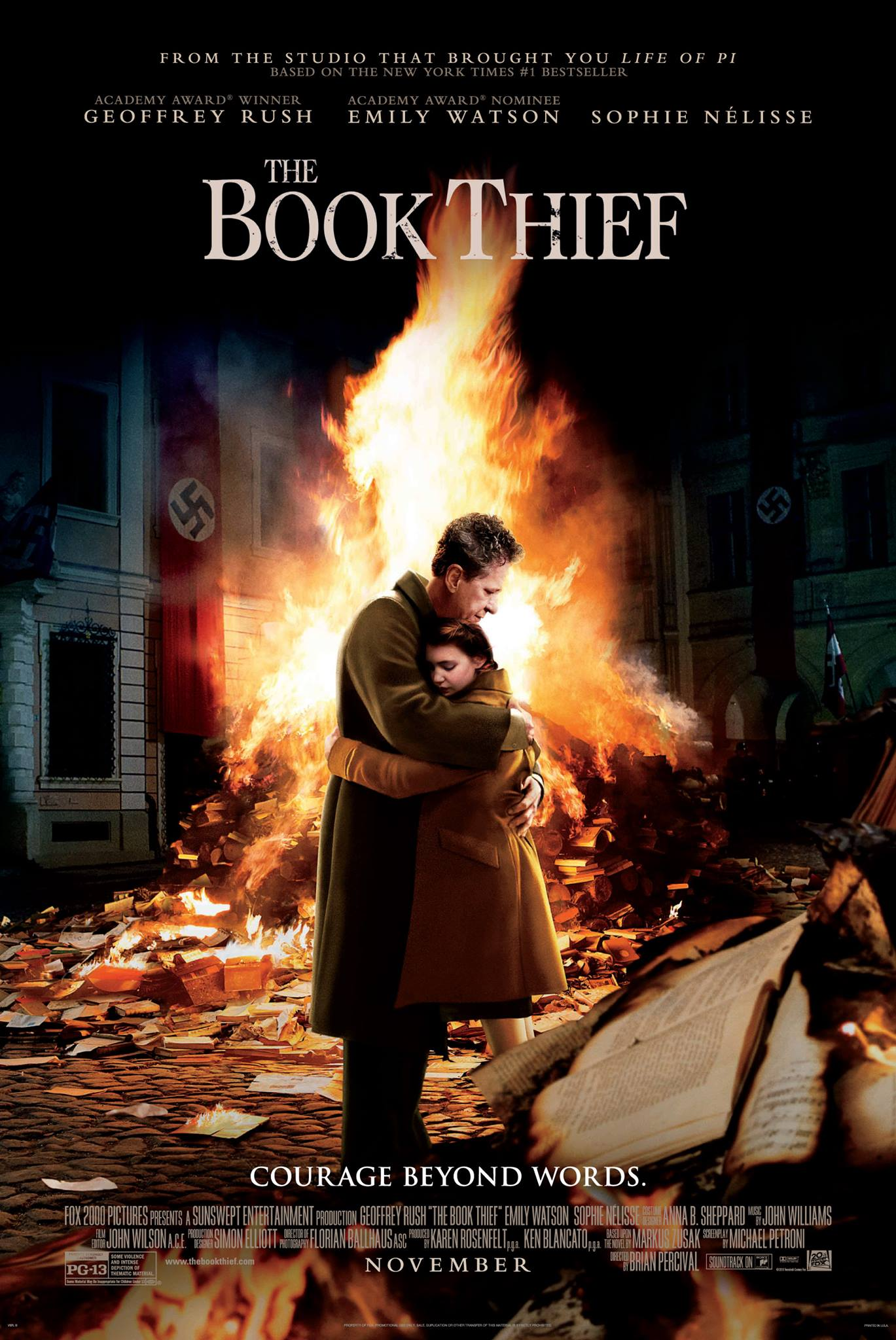 """""""The Book Thief,"""" directed by Brian Percival, is based on the bestselling novel by Marus Zusak. The film is part of the Chicago International Film Festival and will play on October 22."""