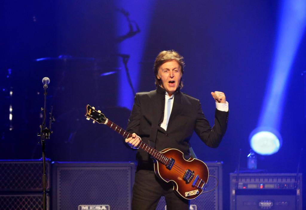 Paul+McCartney+opens+his+Out+There+tour+at+the+Amway+Center+in+Orlando.+The+former+Beatles+artist+joked+with+late+night+host+Jimmy+Fallon+that+he+invented+the+%22selfie.%22