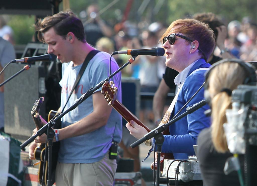 Two Door Cinema Club plays at a previous Lollapalooza concert.