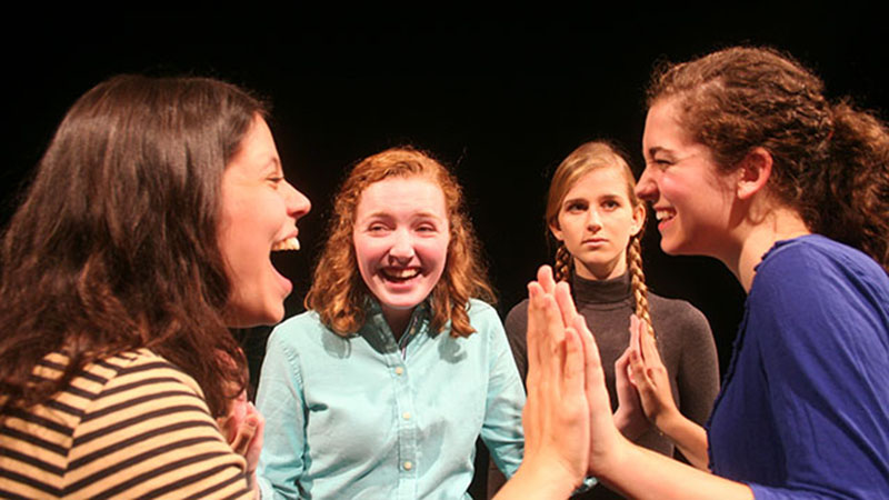 """""""The Hundred Dresses,"""" opening Friday at the Theatre and Interpretation Center, addresses issues of bullying and bystanders among children. Theatre Prof. Rives Collins directed the show."""