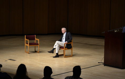 "Scientist and author Richard Dawkins speaks about his life and career at a packed Pick-Staiger Concert Hall. The event was hosted by NU's Secular Student Alliance, after Dawkins approached the group to promote his new book ""An Appetite for Wonder: The Making of a Scientist."""