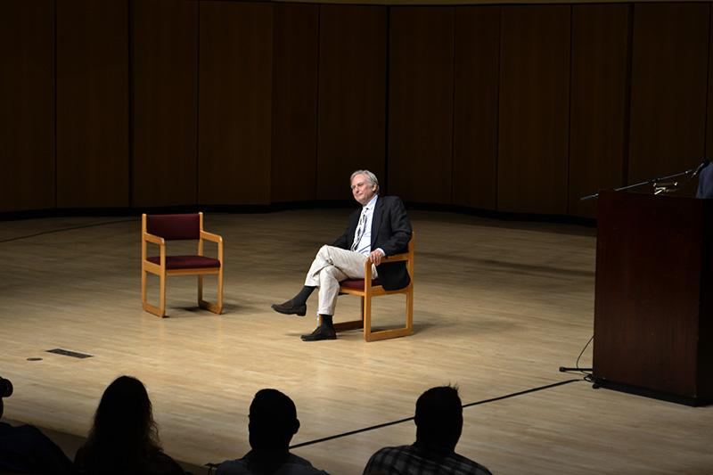 Scientist+and+author+Richard+Dawkins+speaks+about+his+life+and+career+at+a+packed+Pick-Staiger+Concert+Hall.+The+event+was+hosted+by+NU%E2%80%99s+Secular+Student+Alliance%2C+after+Dawkins+approached+the+group+to+promote+his+new+book+%E2%80%9CAn+Appetite+for+Wonder%3A+The+Making+of+a+Scientist.%E2%80%9D+
