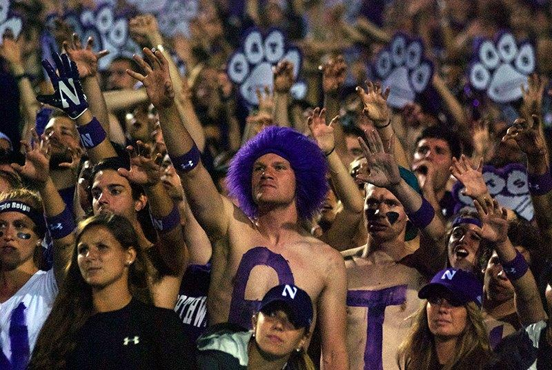 Northwestern+fans+cheer+during+Saturday%27s+game+against+Ohio+State.+The+Daily+hopes+the+student+section+will+continue+to+show+support+now+that+the+national+spotlight+has+turned+off.+
