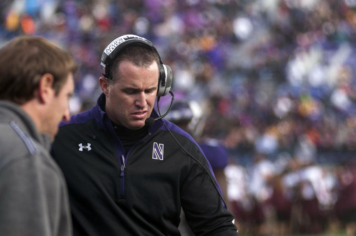 """Pat Fitzgerald attempted to explain NU's recent offensive failures at his weekly press conference Monday. The coach questioned his team's effort saying, """"If I've got to coach effort for any of our guys, then they're not going to play."""""""