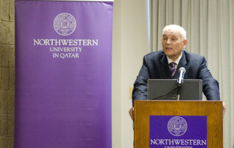 NU-Q administrators detail school's progress in talk on Evanston campus