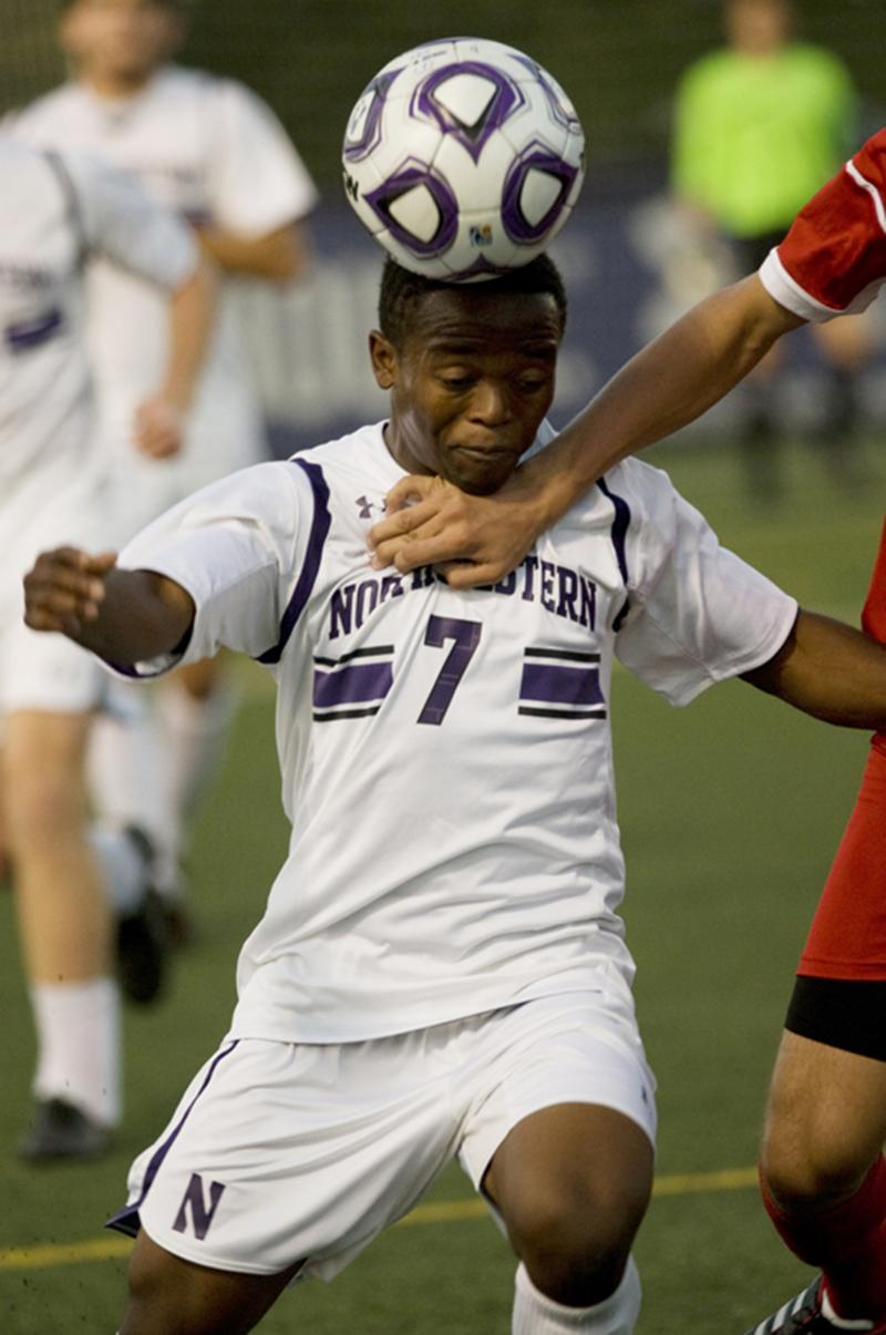 Midfielder Lepe Seetane is one of the Cats' most experienced players. The senior scored his first goal of the season Sunday, but NU suffered its second straight overtime loss. Northern Illinois visits Evanston on Wednesday as the Cats attempt to end that streak.