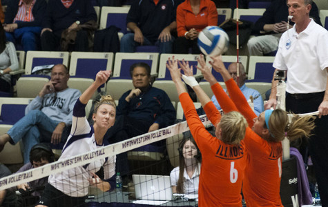 Volleyball: Northwestern rallies to topple a giant Illinois