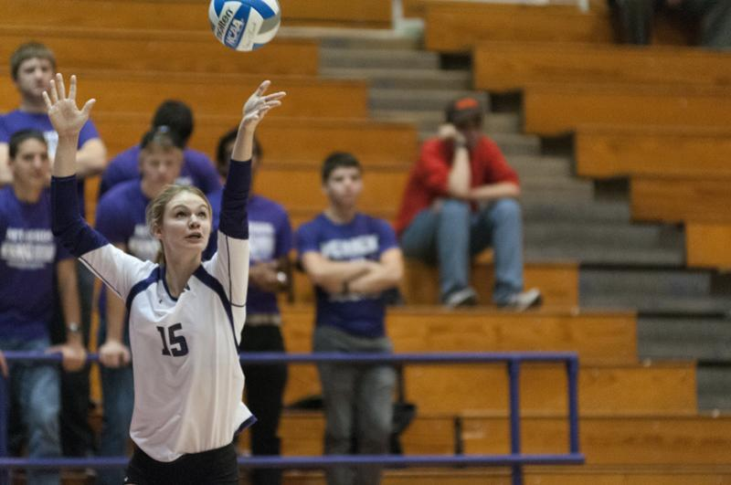 Freshman+right+side+attacker+Kayla+Morin+serves+for+Northwestern+during+the+Wildcats%E2%80%99+last+homestand+against+Illinois.+Morin+had+two+services+aces+yet+only+two+kills+in+NU%E2%80%99s+3-1+loss+to+No.+7+Minnesota+on+Sunday.%0D%0A