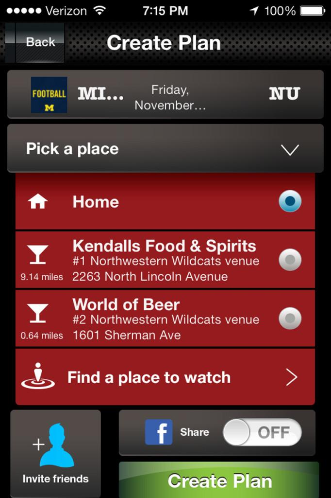Fanatic, an app for sports fans, allows users to find the most popular locations to watch their team's games. Babak Poushanchi (Weinberg '98) created the app 10 months ago, and it already has more than 10,000 users.