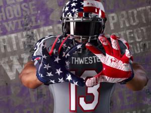 Athletic department defends Veterans Day uniform design