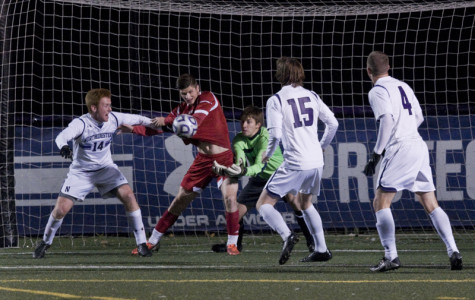 The Wildcats' attempt to save an Indiana shot in Friday's 3-0 loss to the Hoosiers. Northwestern's season is on the line in the first round of the Big Ten Tournament, where the team will meet No. 13 Wisconsin on Wednesday.