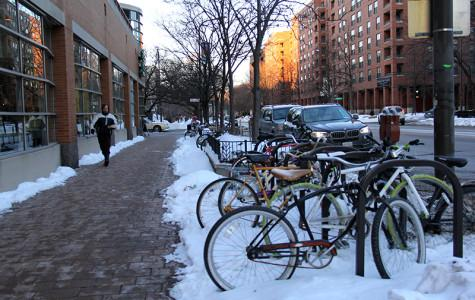 Options limited as students look to protect bikes from snow