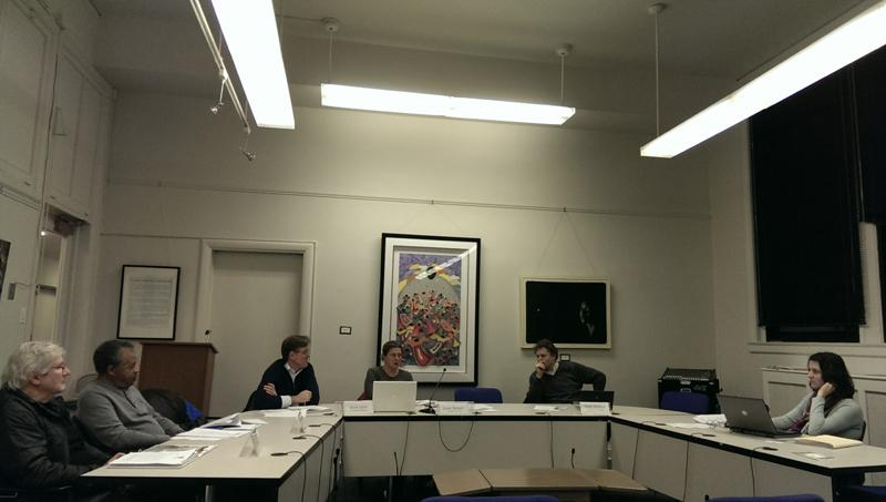 Evanston Environment Board discusses the Complete and Green Network resolution at a meeting Thursday night. The resolution was created in hopes of encouraging more people to walk, bike and use public transportation.