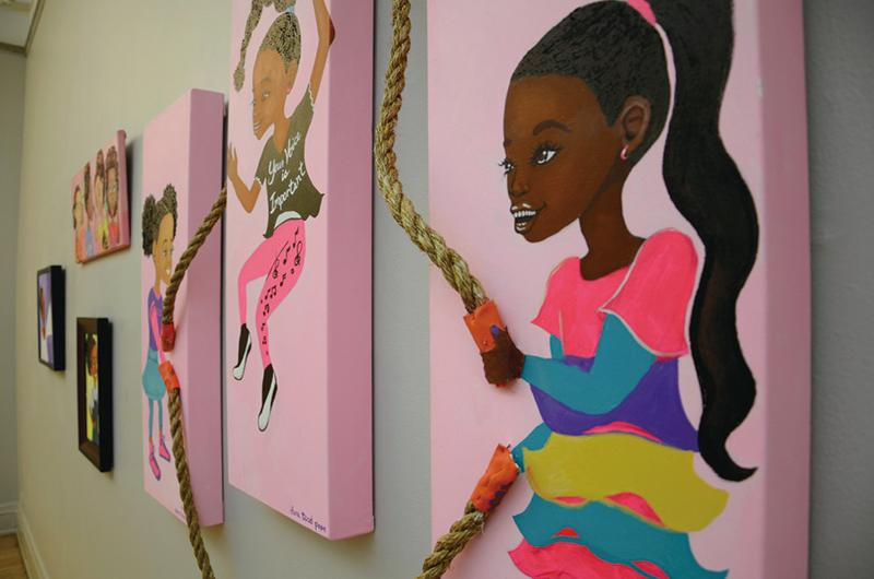 """The Noyes Cultural Arts Center displays new paintings as part of the """"Community Threads: Varied Ideologies"""" exhibit. Another new exhibit called """"Proof for Purchase"""" is on display at the center."""