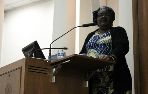 Njoki Njehu, who was a founding member of the International Council of the World Social Forum, speaks at the 11th annual Northwestern University Conference on Human Rights. Titled