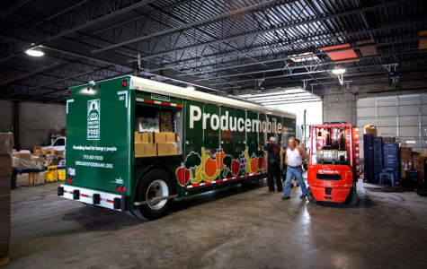 Producemobile is a program started by the Greater Chicago Food Depository that offers fresh, free produce to residents in areas identified as high-need. The Producemobile brings free fruits and vegetables to Evanston every second Tuesday of the month.