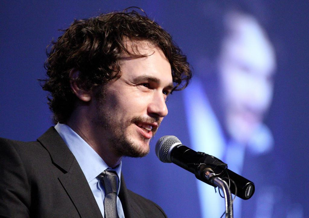 James Franco speaks at the University of Texas-Arlington. Franco, an actor, poet and filmmaker, will debut his latest poetry collection Feb. 19 at the Northwestern School of Law.