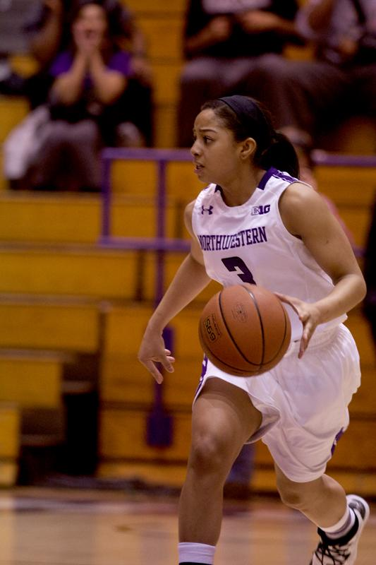 Freshman guard Christen Inman defends against Purdue in Northwestern's 71-68 win Jan. 9. The Wildcats play the No. 22 Boilermakers again Thursday, looking to repeat their narrow victory.
