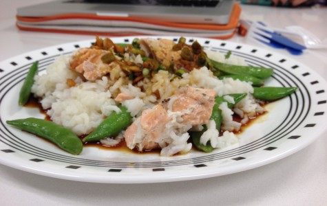 Cooking and Recipes: One-pot salmon with snap peas and rice