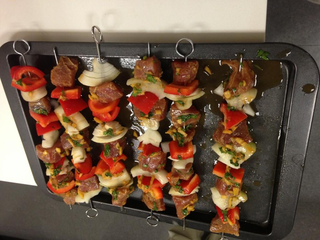 Cooking+and+Recipes%3A+Tuna+kebabs+with+ginger-chile+marinade