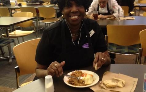 'Hey hey hey': Ellery Hampton brings hospitality, humor to Allison Dining Hall