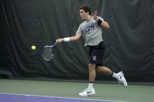 Men's Tennis: Wildcats let victory slip away against Notre Dame