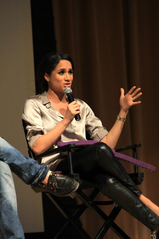 Northwestern+alum+Meghan+Markle+%28Communication+%E2%80%9803%29+speaks+at+Ryan+Auditorium+on+Tuesday+night+as+part+of+the+college+tour+for+%E2%80%9CSuits.%E2%80%9D+Markle+plays+Rachel+Zane+on+the+show.