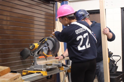 ETHS students build house for class project