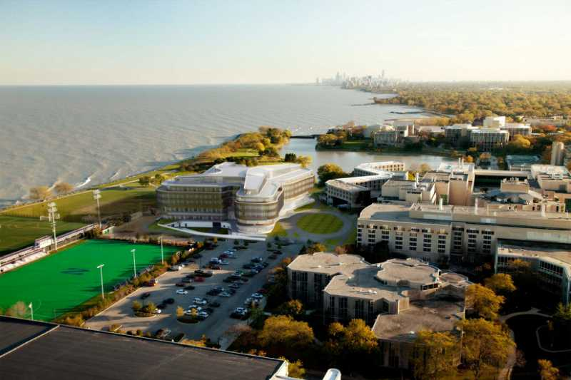 A rendering of Northwestern's plans for North Campus, including new buildings for athletics and the Kellogg School of Management. NU will announce Friday a $3.75 billion capital campaign to support its 2011 strategic plan.