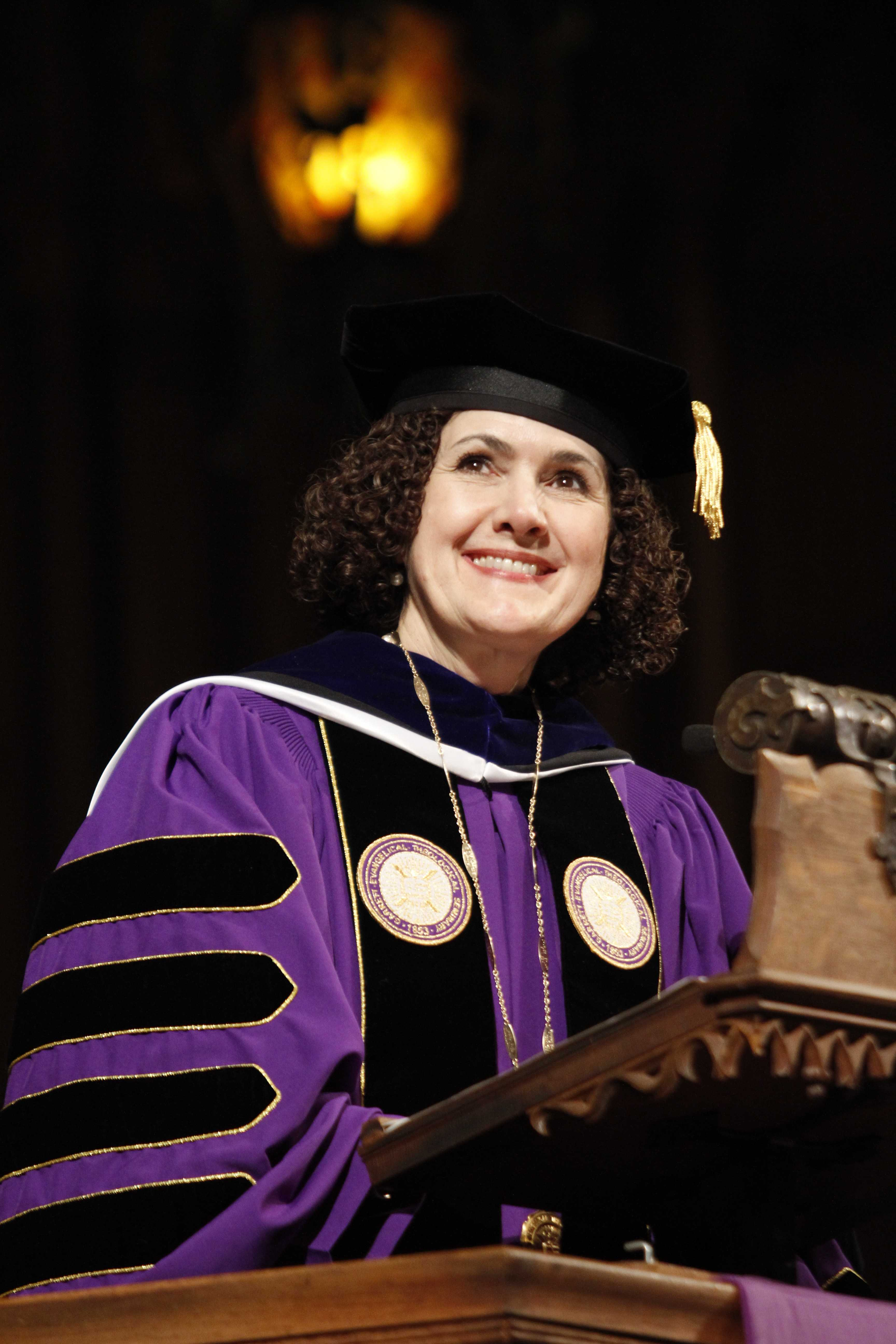 Dr. Lallene Rector was inaugurated Saturday as Garrett-Evangelical Theological Seminary's first female president. Rector previously served as the seminary's vice president for academic affairs and its academic dean.