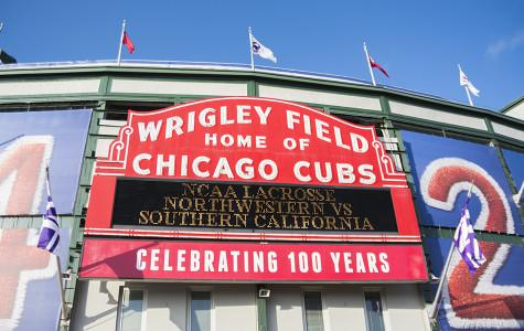 Wrigley Field, the 100-year-old home of the Chicago Cubs, hosted Northwestern lacrosse Saturday night. The Wildcats beat USC 12-7 in front of 5,145 fans.