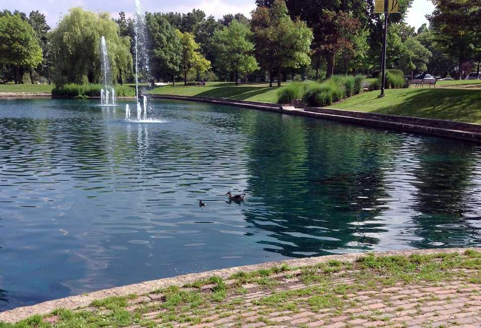 The pond in Dawes Park is a popular lakeside spot during the summer. The area is scheduled to be renovated starting this week and will continue through September.