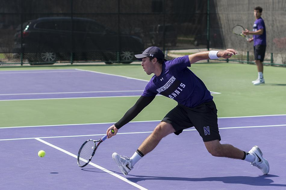Senior Raleigh Smith and his Northwestern teammates cruised past Iowa on Thursday in the first round of the Big Ten Tournament. The Wildcats advanced to take on Purdue on Friday.