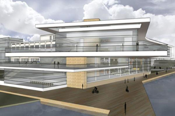 Northwestern is planning to renovate Norris University Center, as depicted in this illustration. The University announced on Tuesday the architect it had selected for the project.