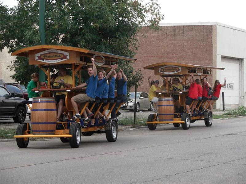 After considering a move to Evanston, mobile bar company PedalPub has pulled out of Illinois altogether. The Minneapolis-based company hosts bike-powered bar tours.