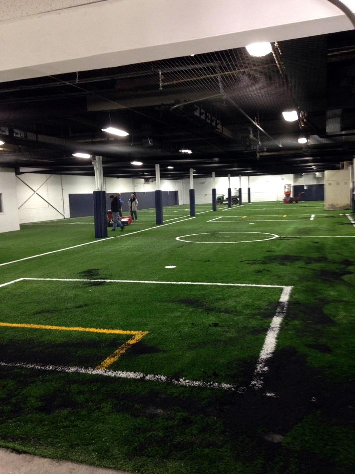 The+interior+of+a+newly+constructed+Evanston+indoor+soccer+facility+is+shown.+Located+at+2025+Dempster+St.%2C+the+space+will+be+used+by+Evanston%E2%80%99s+youth+soccer+program+when+weather+makes+it+impossible+to+play+outdoors.
