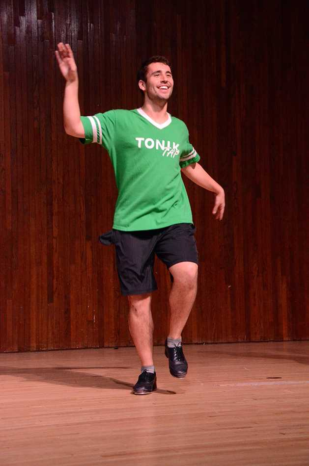 Communication junior Aric Barrow performs with Tonik Tap at NU's Got Talent in McCormick Auditorium Wednesday evening. The show was put on by Northwestern to Benefit Special Olympics.