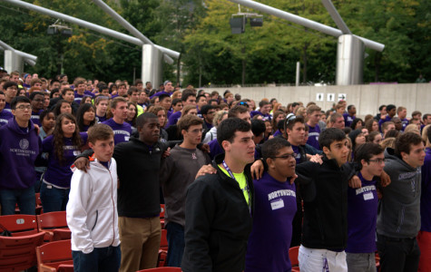 The class of 2017 sings the alma mater in Chicago's Millennium Park during Wildcat Welcome. The class of 2018 is the most diverse class in Northwestern's history.