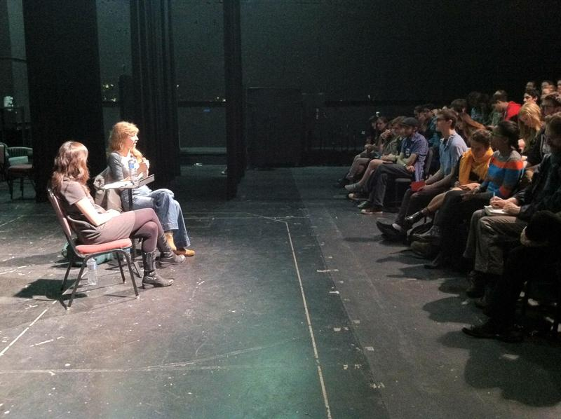 Annie Baker, a Pulitzer Prize-winning playwright, speaks Saturday at the Virginia Wadsworth Wirtz Center for the Performing Arts. During the event, Baker discussed how her career progressed and offered advice for budding playwrights.