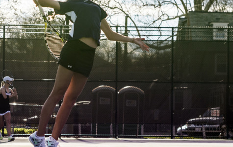 Northwestern's Veronica Corning prepares to rip off a serve. The senior plans to take her talents to the pro circuit following her time in summer school.