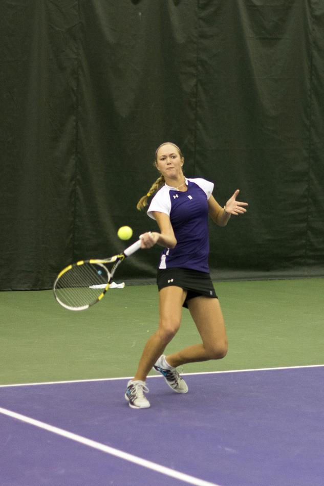 Senior Veronica Corning has paced the Wildcats all season from the top singles spot and hopes to do the same in the NCAA Tournament. Corning has gone 14-10 on the season and upset six highly ranked opponents.