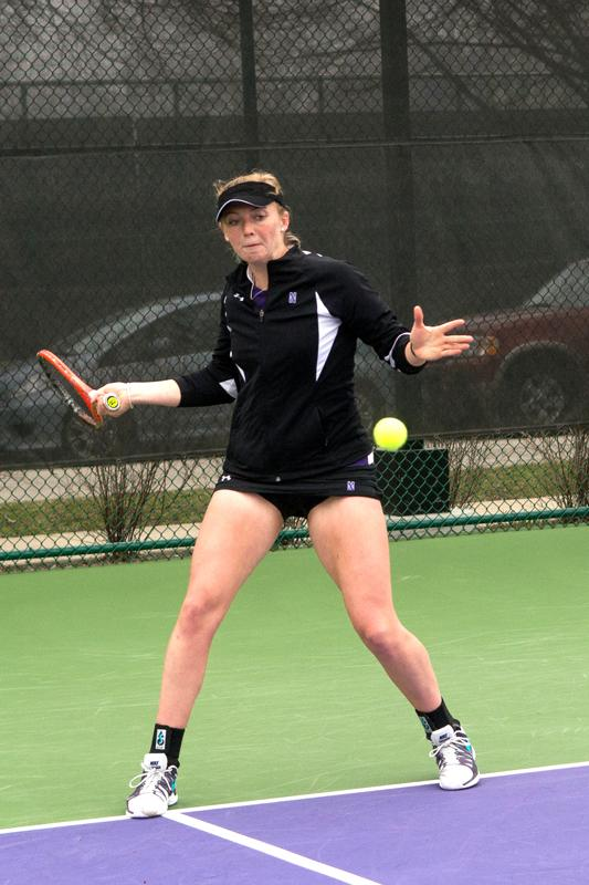 Sophomore+Alicia+Barnett+and+her+doubles+partner+senior+Veronica+Corning+won+their+first+match+at+the+NCAA+Doubles+Championships+before+losing+in+the+second+round.+The+defeat+was+one+of+the+final+Northwestern+sporting+event+of+the+2013-14+year.%0A