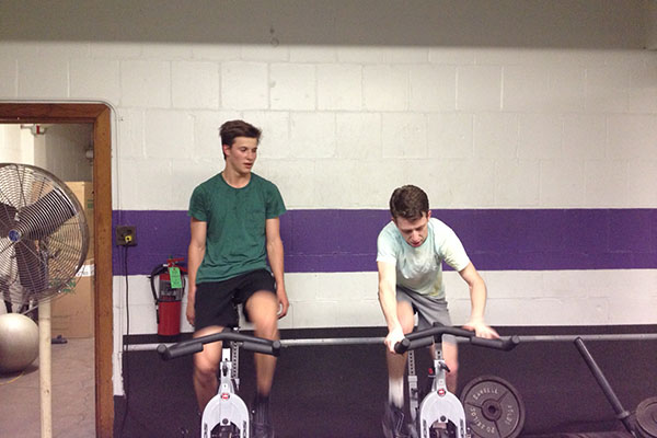 Rising sophomores Jacob Frazer and Alfie Astor train for their upcoming 3,000-mile bike ride across South America. The two students are hoping to raise $3,000 for the South American charity, TECHO.