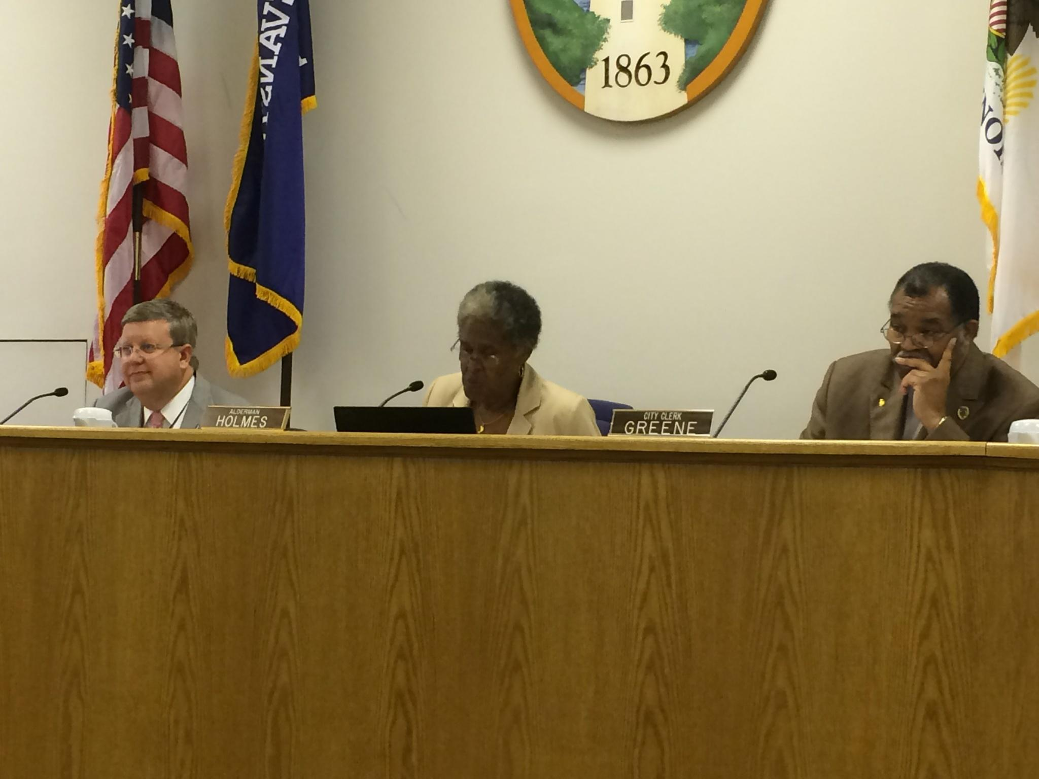 Ald. Delores Holmes (5th) presided over the City Council meeting Monday in Mayor Elizabeth Tisdahl's absence.