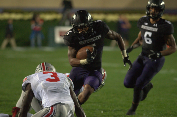 Senior Venric Mark enters 2014 as Northwestern's starting running back, looking to duplicate his 2012 success. Mark will be backed up by senior Treyvon Green and sophomore Stephen Buckley, who emerged last year as Mark battled injuries.