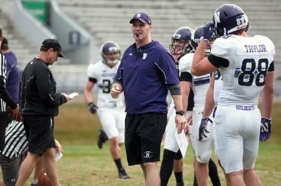 Coach Pat Fitzgerald has cracked down the past two weeks, forcing Northwestern's players to do mid-practice up-down drills in an attempt to toughen up the team. The Wildcats are 0-2 entering Saturday's game with Western Illinois.