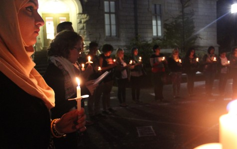 Students honor Gaza's dead at candlelight vigil