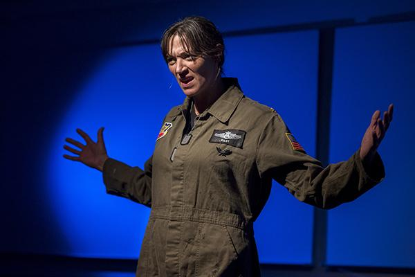 "Acclaimed Chicago actress Elizabeth Laidlaw plays a former fighter pilot in the one-woman show ""Grounded."" The annual ETOPiA play series explores the intersection of science and society."